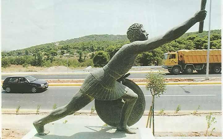 Άγαλμα Φειδιππίδη στην λεωφόρο Μαραθώνος