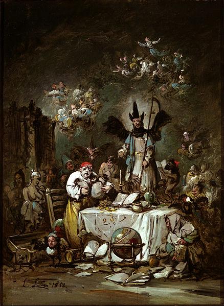 Φιλαργυρία_έργο του Eugenio_Lucas_Velázquez_wikipedia