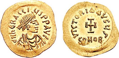 Χρυσό νόμισμα το οποίο απεικονίζει τον Ηράκλειο_wikipedia