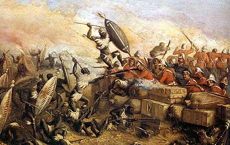 επίθεση των Zulu στο βόρειο τοίχο