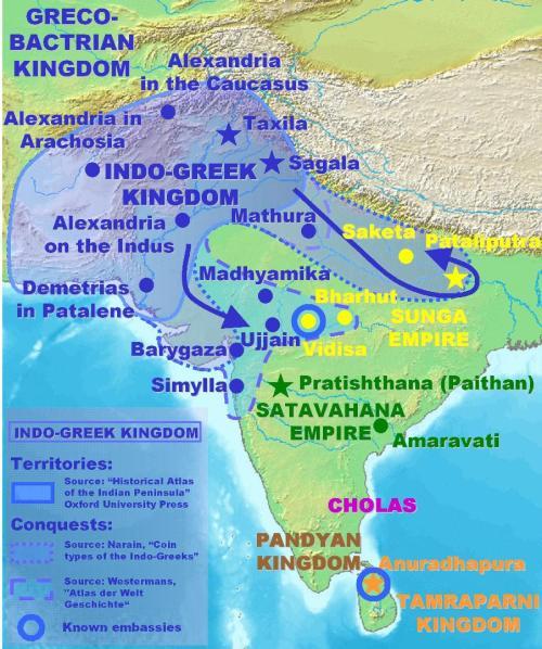 Τα  ελληνικά  βασίλεια  της  Βακτρίας  και  της  Ινδίας.