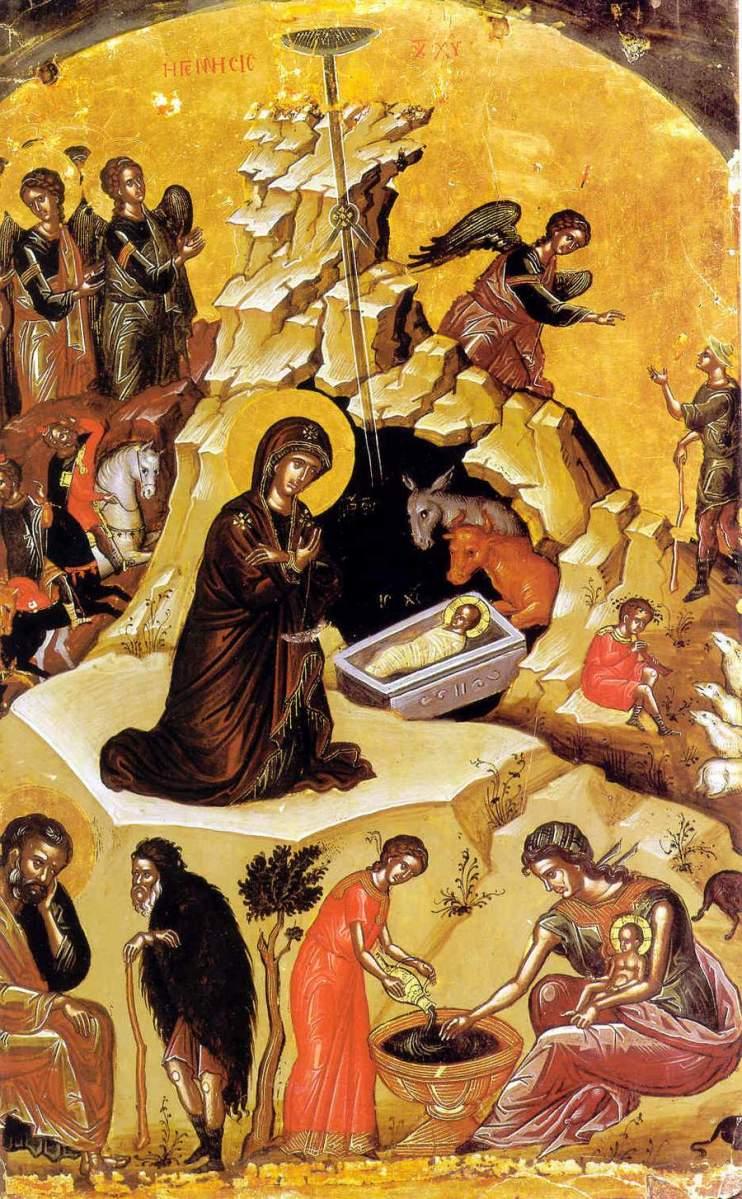Η εικόνα της γέννησης του Χριστού....συμβολισμοί