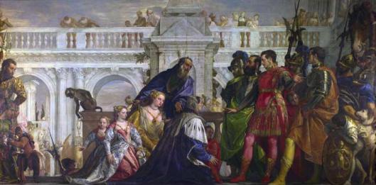 Η οικογένεια του Δαρείου ενώπιον του Αλεξάνδρου - πίνακας του Paolo Veronese 1570