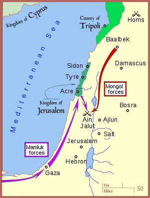 Χάρτης μάχης Ain_Jalut_wikipedia