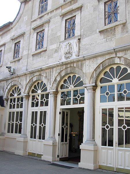 Η είσοδος του Πατριαρχικού Ναού του Αγίου Γεωργίου στο Φανάρι