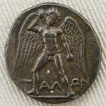 Απεικόνιση του Τάλως σε δίδραχμο της Φαιστού_280 πΧ