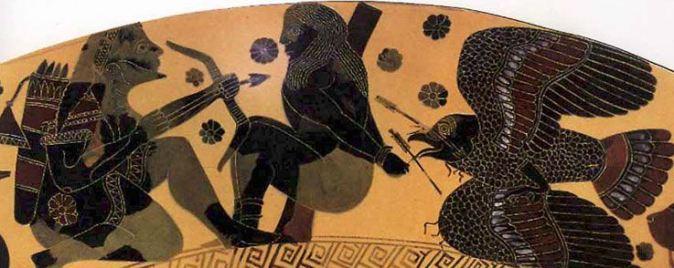 Καυκάσιος αετός_αναπαράσταση σε αθηναϊκό κρατήρα_ 6 αι. πΧ_Εθνικό αρχαιολογικό Μουσείο