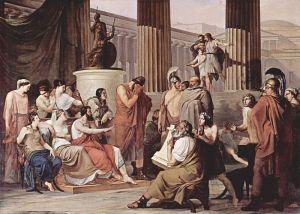 Ο Οδυσσέας στο παλάτι του Αλκίνου