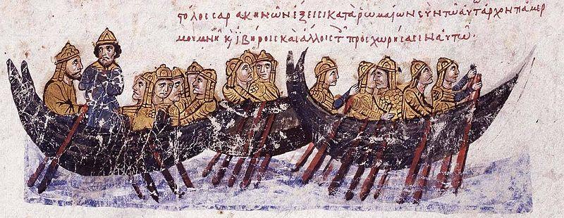 Ο στόλος των Σαρακηνών πλέει κατά της Κρήτης_Ιστορικά Ιωάννου Σκυλίτζη_Εθνική βιβλιοθήκη Ισπανίας