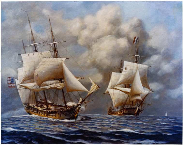 Το USS Constellation αιχμαλωτίζει την Γαλλική φρεγάτα L'Insurgente