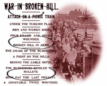 Τίτλοι ειδήσεων της εφημερίδας Miner Barrier της 1 Ιανουαρίου 1915