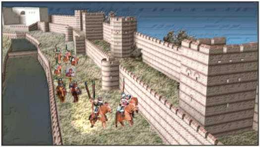 άποψη τειχών Πόλης