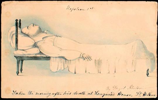 Ο Ναπολέων νεκρός_σκίτσο του Denzil Ibbetson 1821