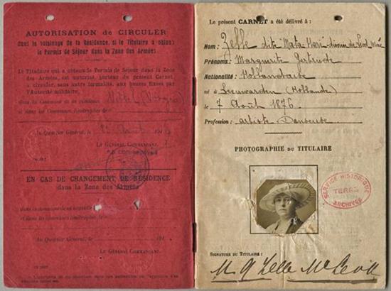 Το διαβατήριο της Μάτα Χάρι_πηγή emersonkent.com