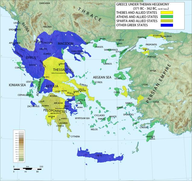 Η Ελλάδα κατά την Θηβαϊκή ηγεμονία