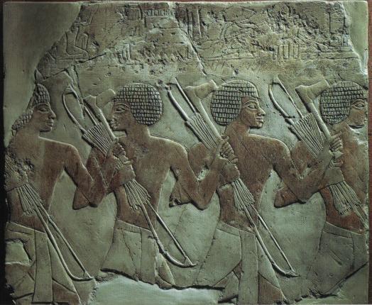 Νούβιοι τοξότες_τοιχογραφία_πυραμίδα Χατσεπσούτ_18η δυναστεία Φαραώ_1480π.Χ_ μουσείο Βερολίνου