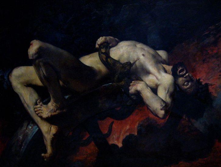 Η τιμωρία του Ιξίονα-πίνακας του Jules Elie Delaunay_μουσείο Καλών Τεχνών Νάντης