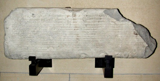 Μαρμάρινη επιγραφή_ περί το 20 μ.Χ_ μουσείο Λούβρου