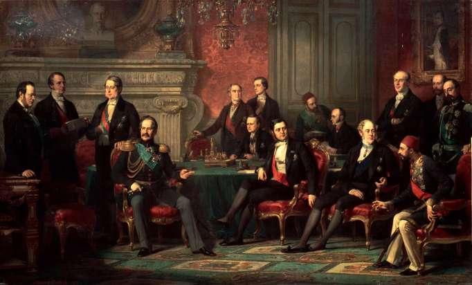 Υπογραφή της Συνθήκης των Παρισίων στο παλάτι των Βερσαλιών_έργο του Edouard Louis Dubufe_πηγή wikipedia