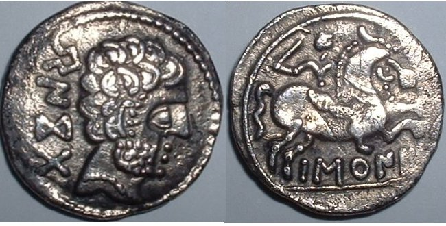 Ισπανικό νόμισμα του 1ου _ 2ου αι π.Χ που φέρει την επιγραφή Basquones