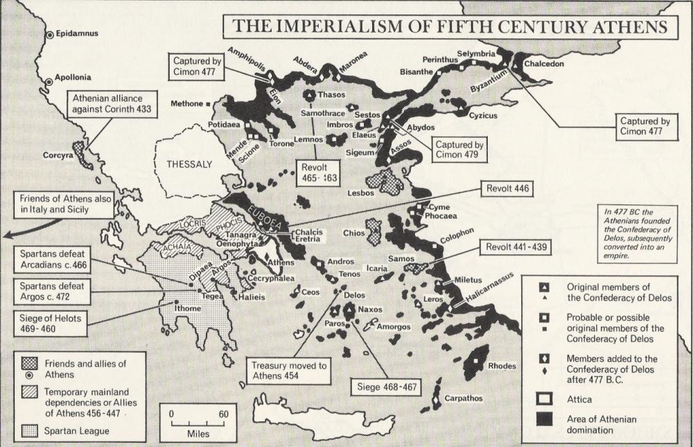 Στρατιωτικός χάρτης Ελλάδος τον 5ο αιώνα π.Χ