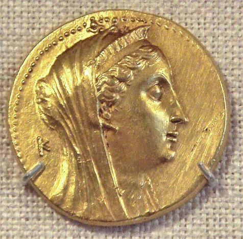 Αρσινόη Β'_χρυσό νόμισμα 250 π.X
