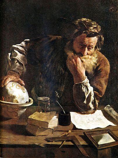 Αρχιμήδης σκεπτόμενος_πίνακας του Fetti_1620_μουσείο Δρέσδης_πηγή wikipedia