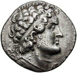 Τετράδραχμο από την Πάφο με τη μορφή του Πτολεμαίου ΣΤ΄ του Φιλομήτορος