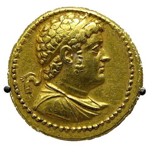 Χρυσό οχτάδραχμο _Πτολεμαίος Δ' ο Φιλoπάτωρ_ Βρετανικό Μουσείο.
