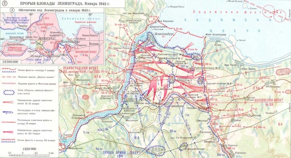Ρωσικός χάρτης επιχειρήσεων 11 - 30 Ιανουαρίου