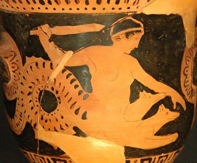 Σκύλλα_Ερυθρόμορφος Βοιωτικός καμπανοειδής κρατήρας_425 πΧ_μουσείο Λούβρου