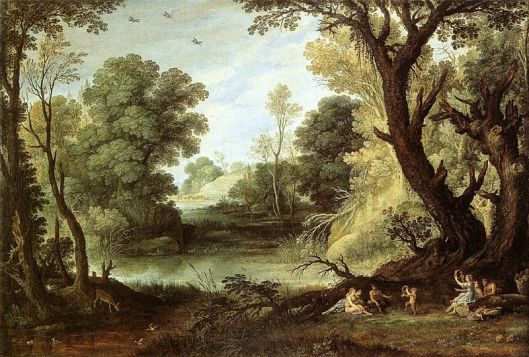 Νύμφες και Σάτυροι_ελαιογραφία  του Paul_Bril_1653_
