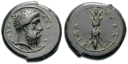 Συρακούσιο νόμισμα εποχής Δίωνα 357 π.Χ