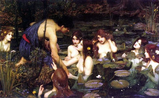 Ο Ύλας απάγεται από τις Ναϊάδες_πίνακας του john william waterhouse_1896