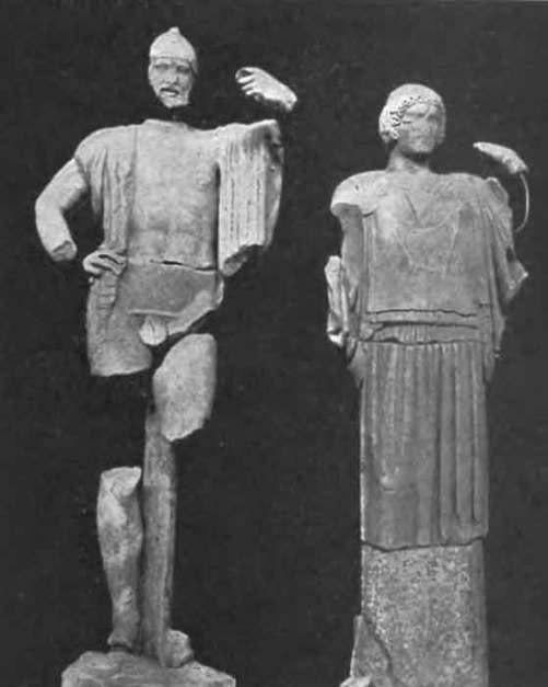 Οινόμαος και Στερόπη_Ναός του Διός στην Ολυμπία_ανατολικό αέτωμα_ 460 π.Χ
