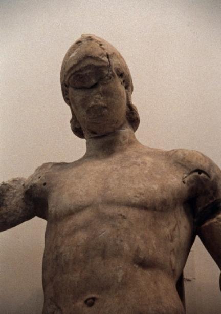 Πέλωψ_ανατολικό αέτωμα ναού Ολυμπίου Διός_αρχαιολογικό μουσείο Ολυμπίας