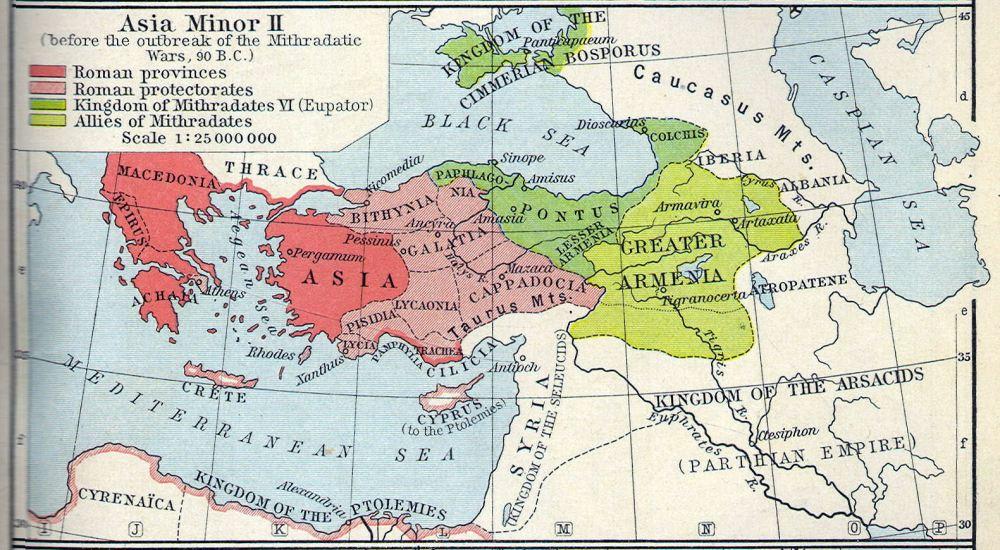 Ποντιακό βασίλειο επί Μιθριδάτη VI 90 π.Χ_πηγή history heritage