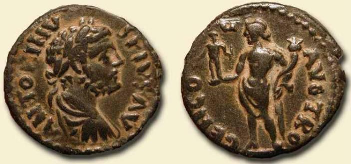 Αρχαία νομίσματα με την απεικόνιση του Απόλλωνα Σμινθέα