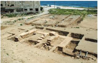 Άποψη ναού της Ίσιδος στην αρχαία πόλη της Ρόδου