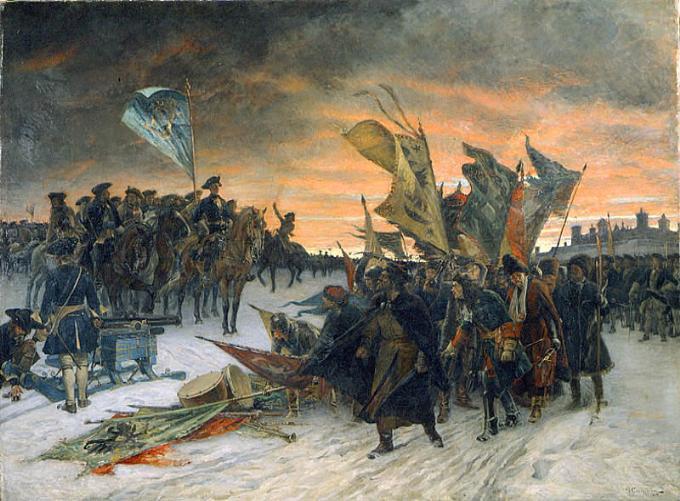 Η παράδοση των Ρώσων στην μάχη της Νάρβα