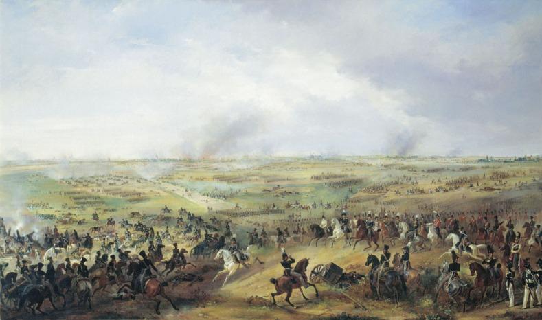 Μάχη της λειψίας_πίνακας του Α. Zauerweid