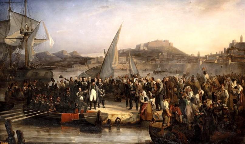 Ο Ναπολέων αφήνει την Έλβα