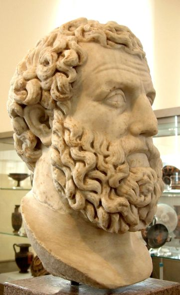 Αρχίλοχος_Ρωμαϊκή προτομή αντίγραφο εκ του Ελληνικού πρωτοτύπου 2ος αιώνας μ.Χ_πηγή wikimedia commons