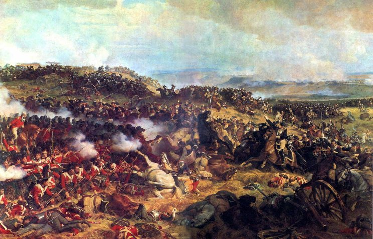 Επίθεση Γάλλων θωρακοφόρων (επίλεκτο Γαλλικό ιππικό σώμα) στην μάχη του Βατερλώ
