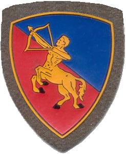 """Έμβλημα Ιταλικής μεραρχίας """"Κενταύρων"""""""