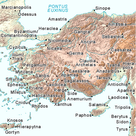 Ίλιον (Τροία) και άλλες αρχαίες πόλεις της εποχής στην περιοχή της Ανατολίας (πηγή)