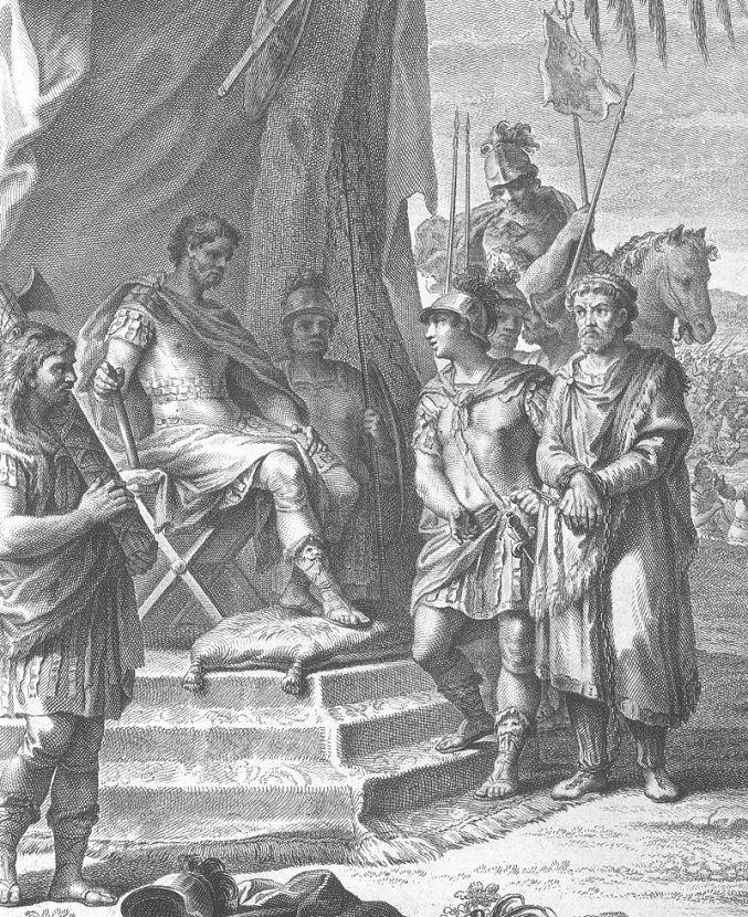Ο Ιουγούρθας αλυσοδεμένος προ του Σύλλα