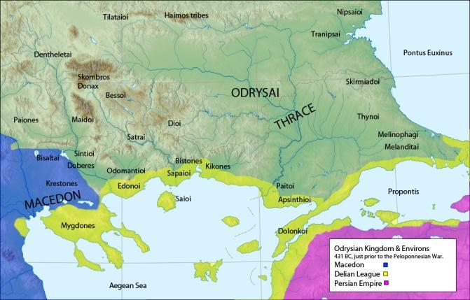 Βασίλειο Οδρυσών_πηγή wikimedia commons