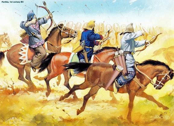Πάρθοι ιπποτοξότες επί δυναστείας Αρσακιδών