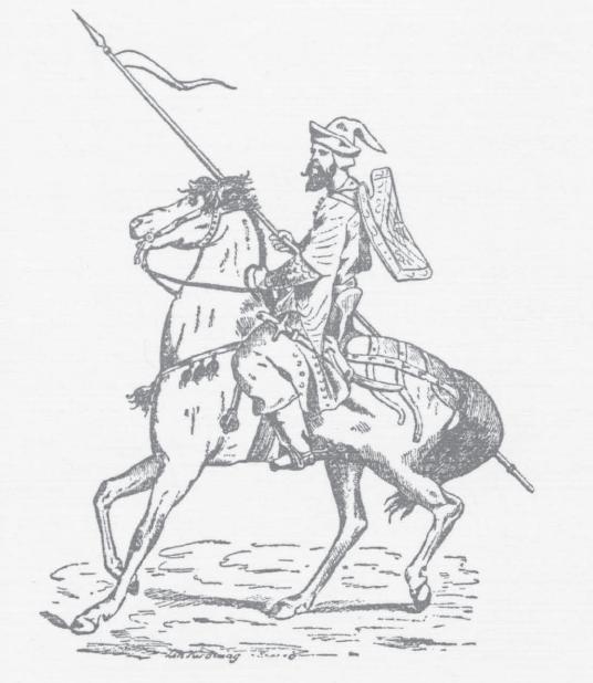 Έφιππος Stratioti (Mνημεία Ελληνικής Ιστορίας, Κ. Σάθα)